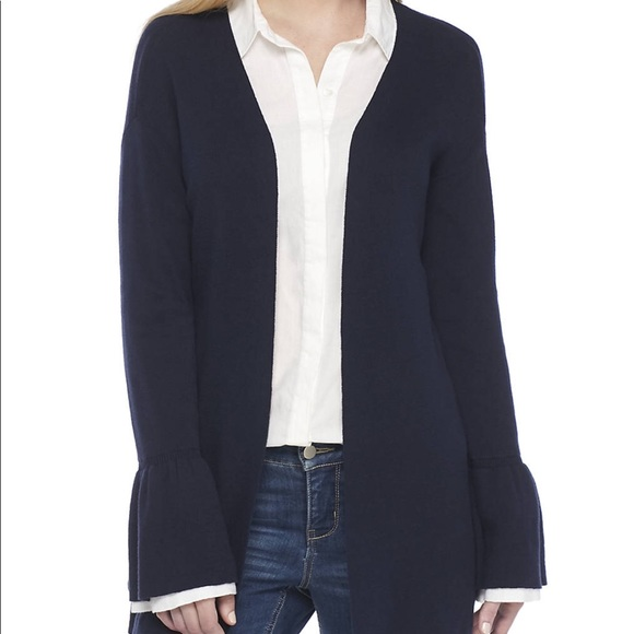 Mango navy cardigan with bell sleeve. New with tag acb0c47da